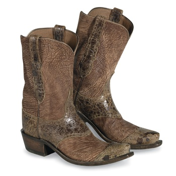 These Lucchese wingtip boots aren't made for men, but they are made in America. Does anyone know who makes a men's equivalent in the USA?
