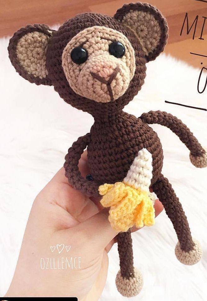 Amigurumi Maymun Tarifi | Maymunlar, Örgü, Amigurumi | 972x667