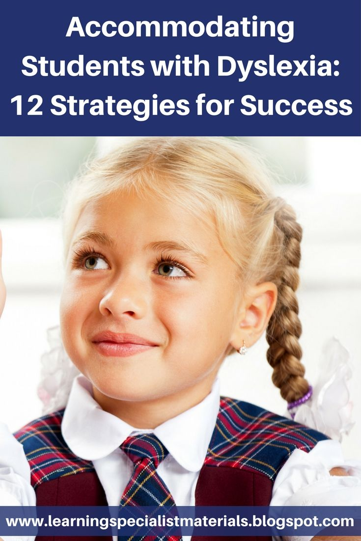Learning Specialist and Teacher Materials - Good Sensory Learning: Accommodating Students with Dyslexia: 12 Strategies for Success