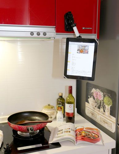 Flex Wizard iPad Tablet Mount. How long before your ipad drops into your soup ??
