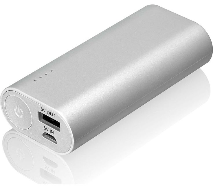 GOJI G6PB6SV16 Portable Power Bank - Silver, Silver: Keep your devices going for longer with the Goji G6PB6SV16… #Electrical #HomeAppliances