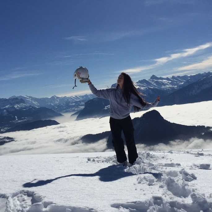 On top of the clouds at Praz de Lys -Sommand