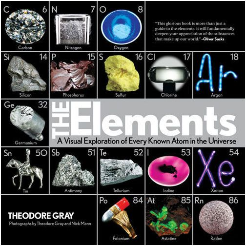 Really cool book - the author makes reading about the elements entertaining even for someone not necessarily interested in chemistry. Beautiful photographs.