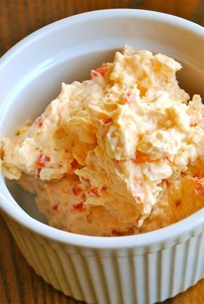 Homemade Pimento Cheese Spread - Super low carb - Believe it or not this is so good using BBQ pork rinds as your dipper. Very tasty and barely any carbs! It's also really good with the Endurance Crackers! http://papasteves.com/blogs/news