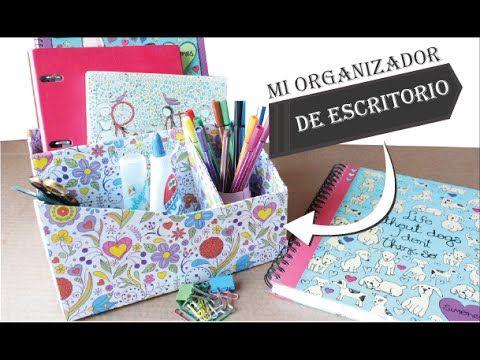 Organizador de escritorio reciclado f cil tend n - Organizador escritorio ...