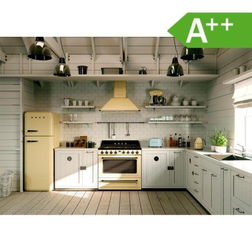 SMEG Standkühlschrank Mit Gefrierraum FAB30RP1 Scharnier Rechts Creme. Küche  RetroKüchen ...