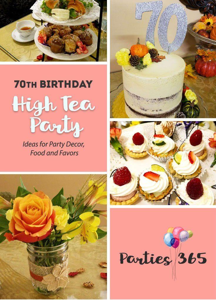 70th Birthday Party High Tea