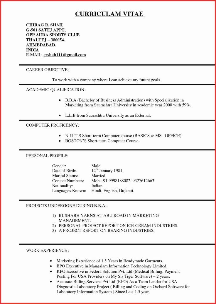 sample resume for kpo jobs