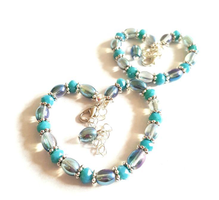Moeder Dochter Armbanden Set Turquoise Love