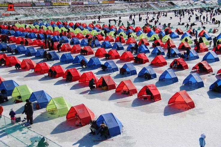 Du lịch Hàn Quốc vào mùa đông tham gia Lễ hội câu cá trên băng Pyeongchang