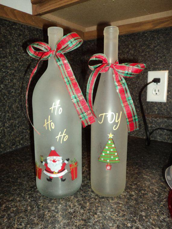 Good craft for empty wine bottles christmas pinterest for Christmas craft ideas with wine bottles
