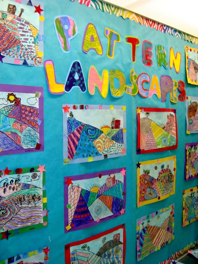 2nd Grade Patterned Landscapes   Mrs. Carter's Art Room