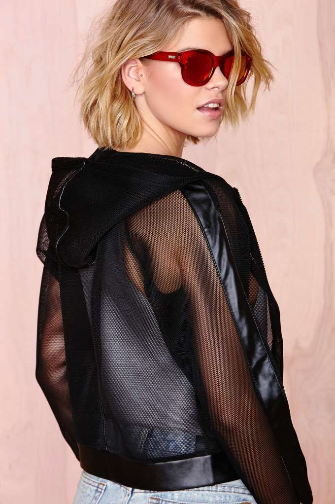 nasty gal. playing games mesh jacket. #fashion