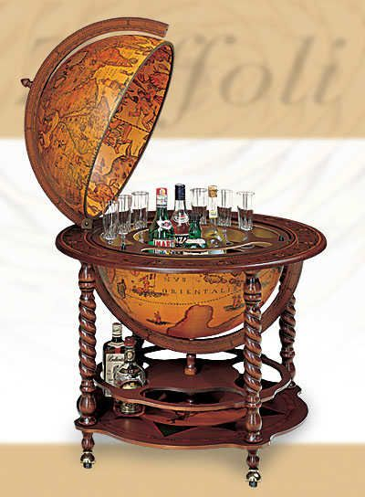 Delightful Large Florentine Bar Globe: Must Must Have!!! This Would Go Great In