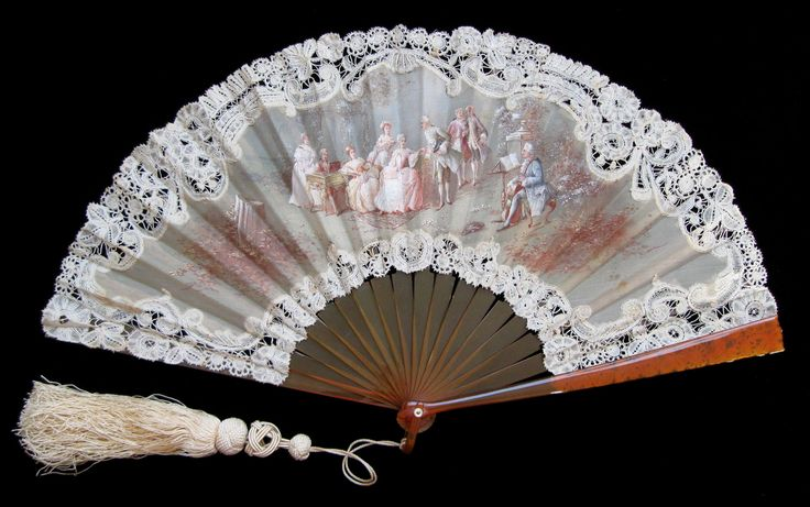 Lace Fan by Serand - Date: ca. 1895-1905 - - MadAboutFans.com
