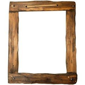 custom rustic wood frame custom frames handmade frames wood log frames natural - Wood Picture Frame