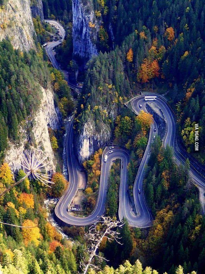 The Bicaz Canyon, Romania - 9GAG