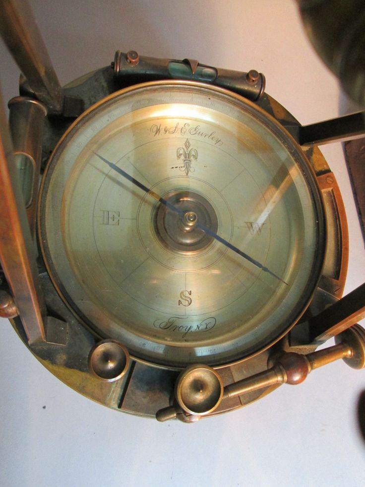 details about antique w  u0026 l e gurley brass transit