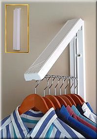 A space-saving drying rack. Huh! So simple, it's a little bit eerie.