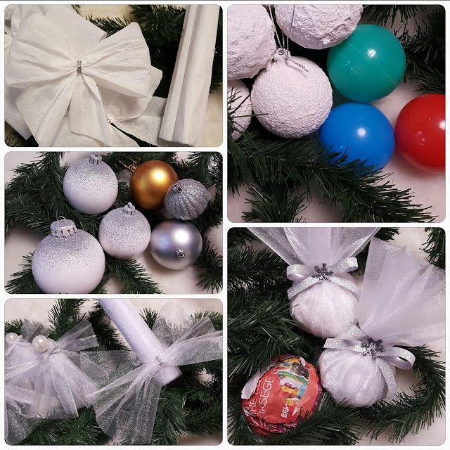 Ötletes Blog: Karácsonyfadíszek házilag egyszerű alapanyagokból