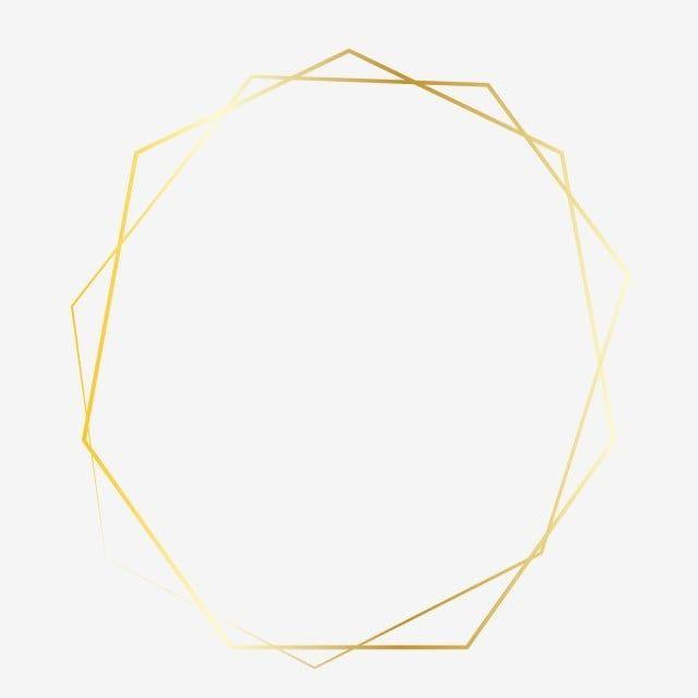 Golden Polygon Clipart Png Vector Element Frame Invitation Lovely Frame Golden Png And Vector With Transparent Background For Free Download Clip Art Floral Border Design Gold Frame