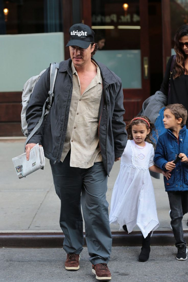 Matthew McConaughey and Camila Alves step out with their kids Levi and Vida in New York on October 5, 2015