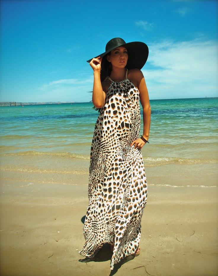 Lilly silk maxi dress $279 http://www.embrossia.com.au/bachhara-lilly-dress-animal.html