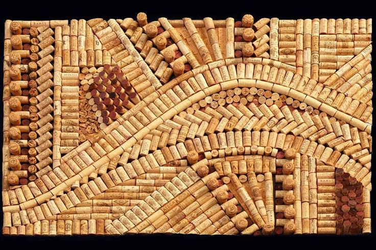 Look a these novel and detailed cork creations made by for Cork art ideas