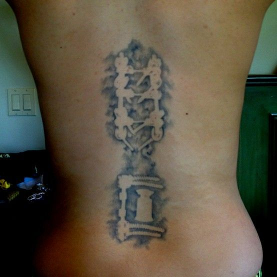 This person got their post op fusion x ray tattooed on for X ray tattoo