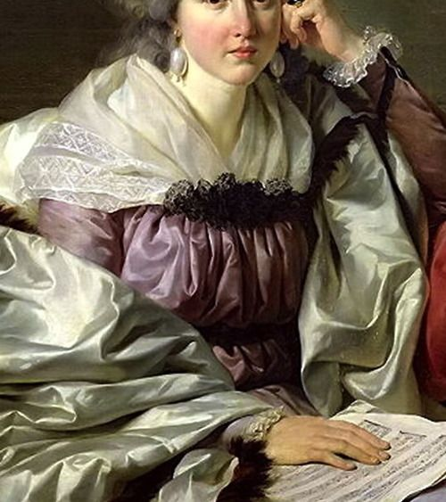 """""""Portrait of Madame Nicaise Perrin"""" (detail) by Jean-Charles Nicaise Perrin (1754-1831)."""
