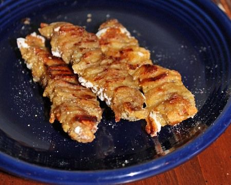 Here's something that's a little bit on the heartier side. Economical, lean round steak is dredged in a simple batter of egg, flour, and cornmeal that gives it a nice crunchy bite and then baked. It'll keep the kids' tummies from rumbling for a good while. See all appetizer recipes.
