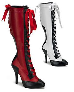 Moulan Rouge Can-Can Boots SEXY high heels Fancy Dress boots NEW Boxed Size 3-9 | eBay