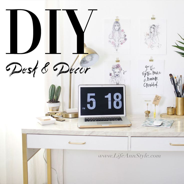 diy desk and decor escritorio decoracion oficna blanco dorado gold