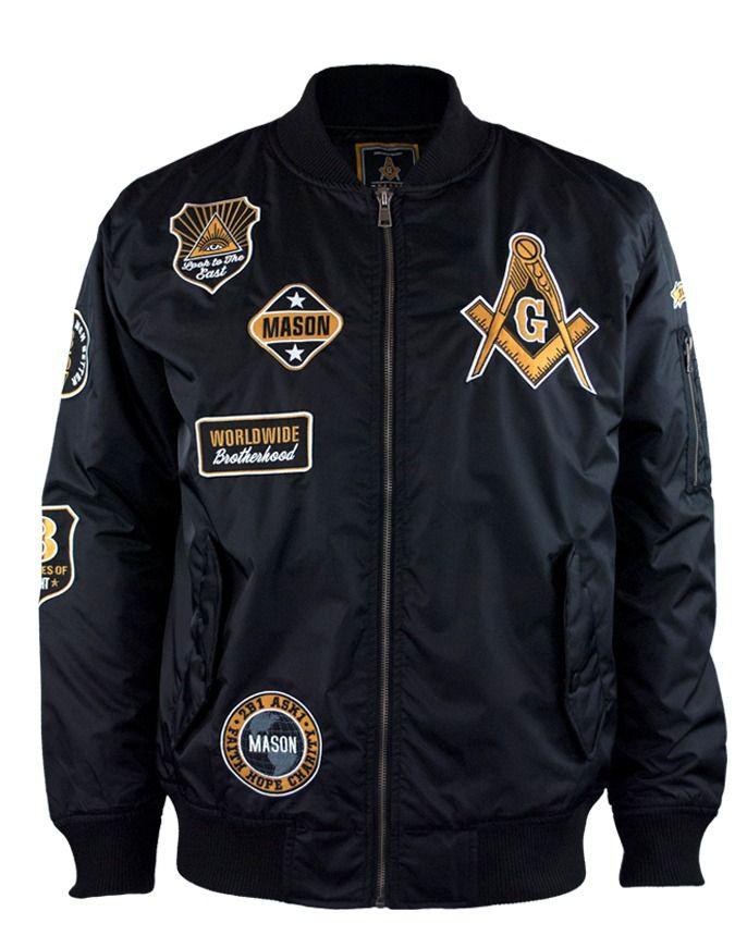 Mason BOMBER JACKET | Fraternal | Bomber jacket, Black