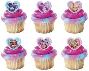 12 CUPCAKE rings WINX CLUB party FAVORS birthday FASHION bloom FLORA cake POPS