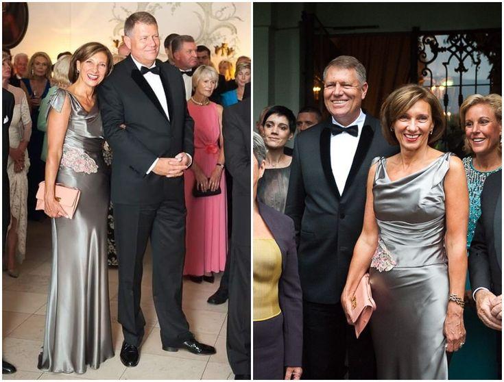 Carmen Iohannis - rochia argintie purtata la Salzburg