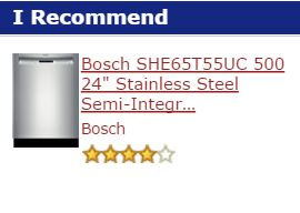 This is why the Bosch SHP65T55UC 500 series is the best-buy dishwasher