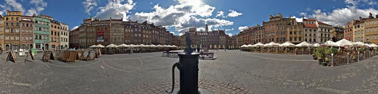The square at the center of the Old Town of Warsaw, capital of Poland. It is the oldest part of the city of Warsaw.