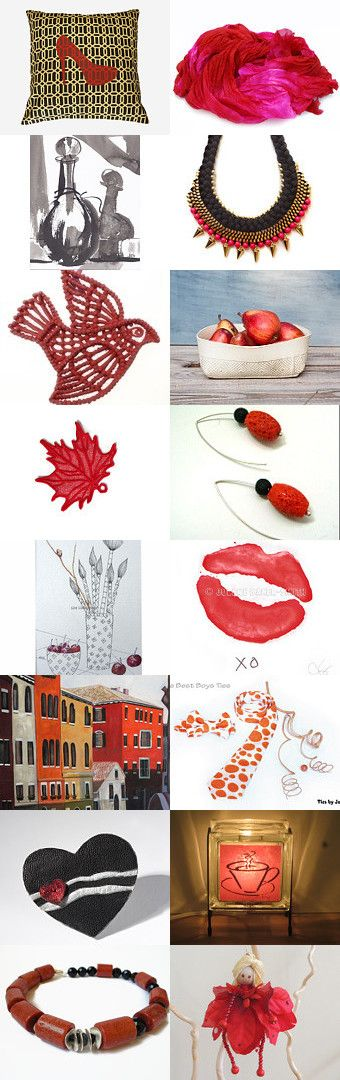 Beautiful handmade Valentine's gifts by Paola Fornasier on Etsy--Pinned with TreasuryPin.com