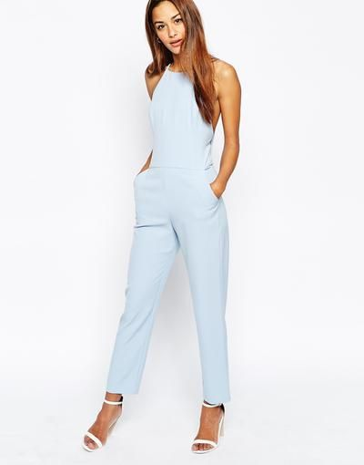 ASOS Premium Halter Neck Jumpsuit at asos.com #allinone #covetme