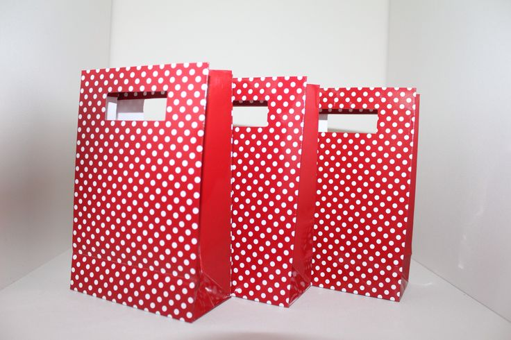 Red and white polka dot bags www.qualitytimepartysupplies.com.au