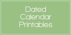 Dated Calendar Printables