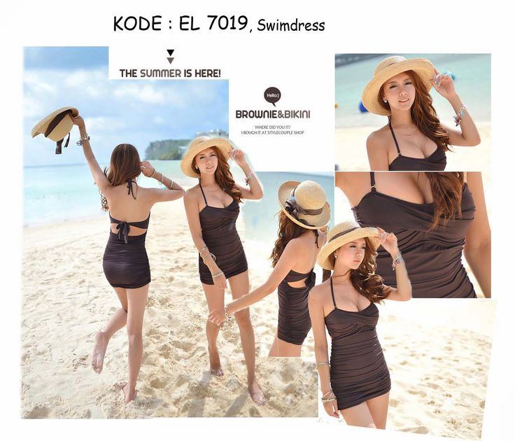 7019-220rb Jual swimdress bikini pantai bali coklat sexy