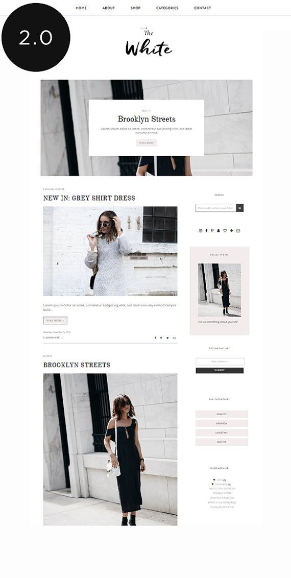 Blogger Template with Post Slider / Responsive Blog Theme / Premade Blogger Template / Fashion Blog Design