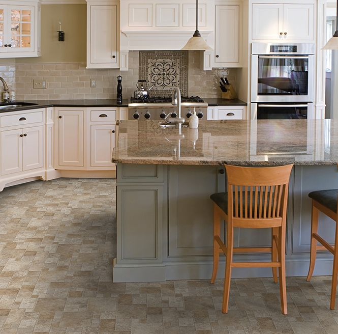 Bring A Timeless Look To Your Kitchen With This Floor From