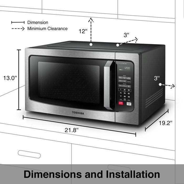 Toshiba Inverter 22 1 6 Cu Ft Countertop Microwave Reviews