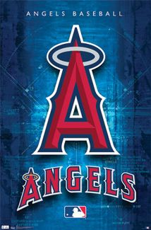 Los Angeles Angels of Anaheim MLB Logo Poster - Costacos Sports