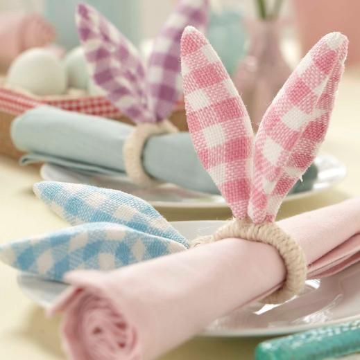 Gisela Graham Bunny Ear Napkins Rings - £3.90 - A great range of Spring & Easter gifts and homewares from The Contemporary Home Online Shop www.tch.net