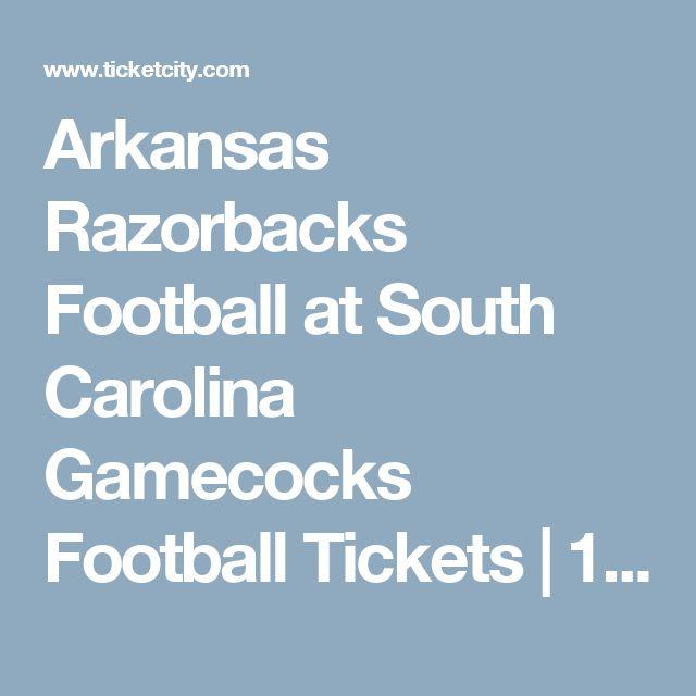 Arkansas Razorbacks Football at South Carolina Gamecocks Football Tickets   10/07/2017 at Williams-Brice Stadium