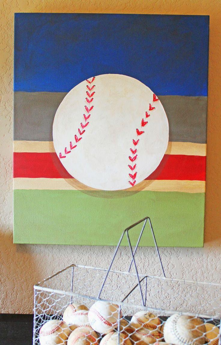 312 best murals and paintings images on pinterest wren murals custom painted baseball art for boys baseball themed bedroom theraggedwren blogspot com